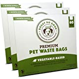 Doggy Do Good Premium Pet Waste Bags (Gusseted), Vegetable-Based Dog Poop Bags, With Easy-tie Handles (Green)
