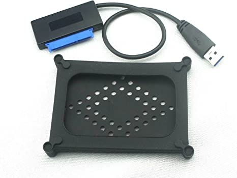 Nimitz USB 3,0 A Sata 22 P 6,35 cm Cable adaptador de disco duro SSD duro + caja de goma: Amazon.es: Informática