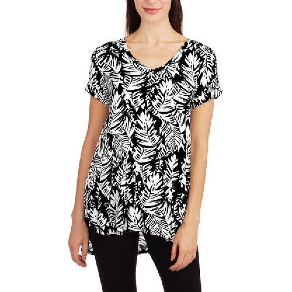 b1d89b917b6 Amazon.com  Ocean Pacific Women s High Low V-Neck Pocket Boyfriend T-Shirt   Clothing