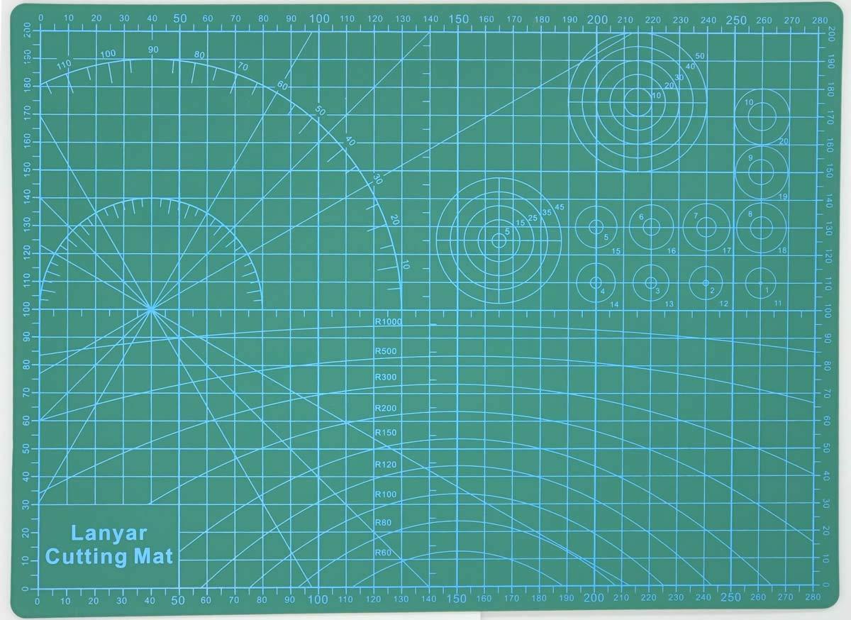 Gundam Model Builder's Cutting Mat 12x9( A4 ) Lanyar