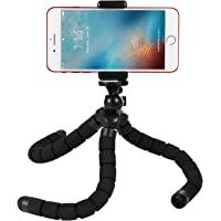 Kupton Octopus Tripod Style Portable and Adjustable Flexible Tripod Stand Holder Mount with Clip for GoPro Hero 6/5/Fusion/ Hero 5 Session/ Hero Session/ Hero 4/3+/3/2 Xiaomi Yi, iPhone & Android Phone