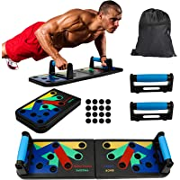 VINGO Uniseks push-up board met tas, 13-in-1 draagbaar multifunctioneel push-up-board, voor mannen en vrouwen…