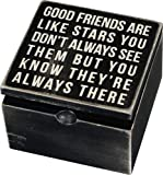 Primitives By Kathy Classic Hinged Box, Good Friends are Like Stars