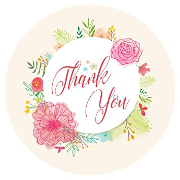 Thank You Sticker Labels For Birthday Party Return Gifts Envelopes Bills Product Packings And Many More 24 Stickers Each 45 Cm Amazonin Toys