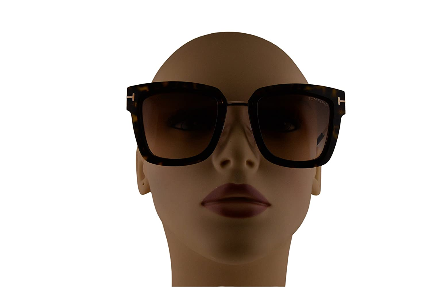 12e62eeca3 Amazon.com  Tom Ford FT0573 Lara-02 Sunglasses Dark Havana w Brown Gradient  Lens 52F TF573  Clothing