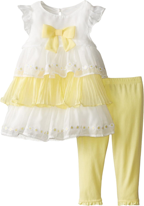 Nannette Baby Girls Tiered Shiffon Legging Set