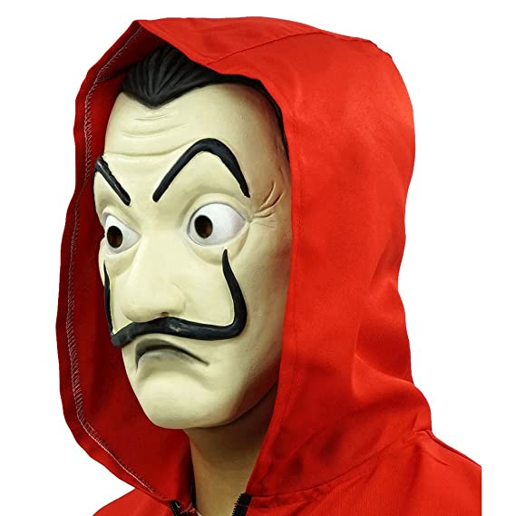 Amazon.com: Hongzhi Craft La Casa De Papel Costume and Salvador Dali Mask (Costume and Mask Both): Clothing