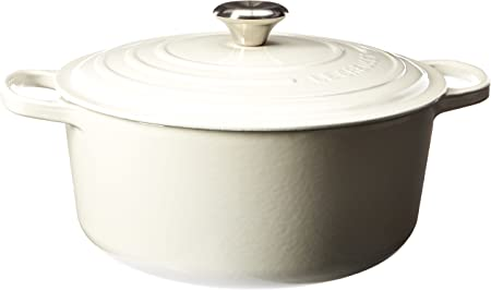 Le Creuset Signature Enameled Cast-Iron 7-1 4-Quart Round French Dutch Oven, White