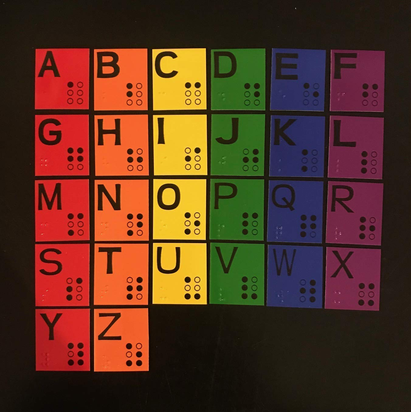 Magnetic Braille Alphabet Set for Learning Braille - Low Vision - Now Available in 3 sizes!