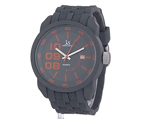 Amazon.com: Joshua & Sons Mens JS63GY Gray Multifunction Quartz Watch with Gray and Red Accented Dial With Gray Bracelet: Joshua and Sons: Watches