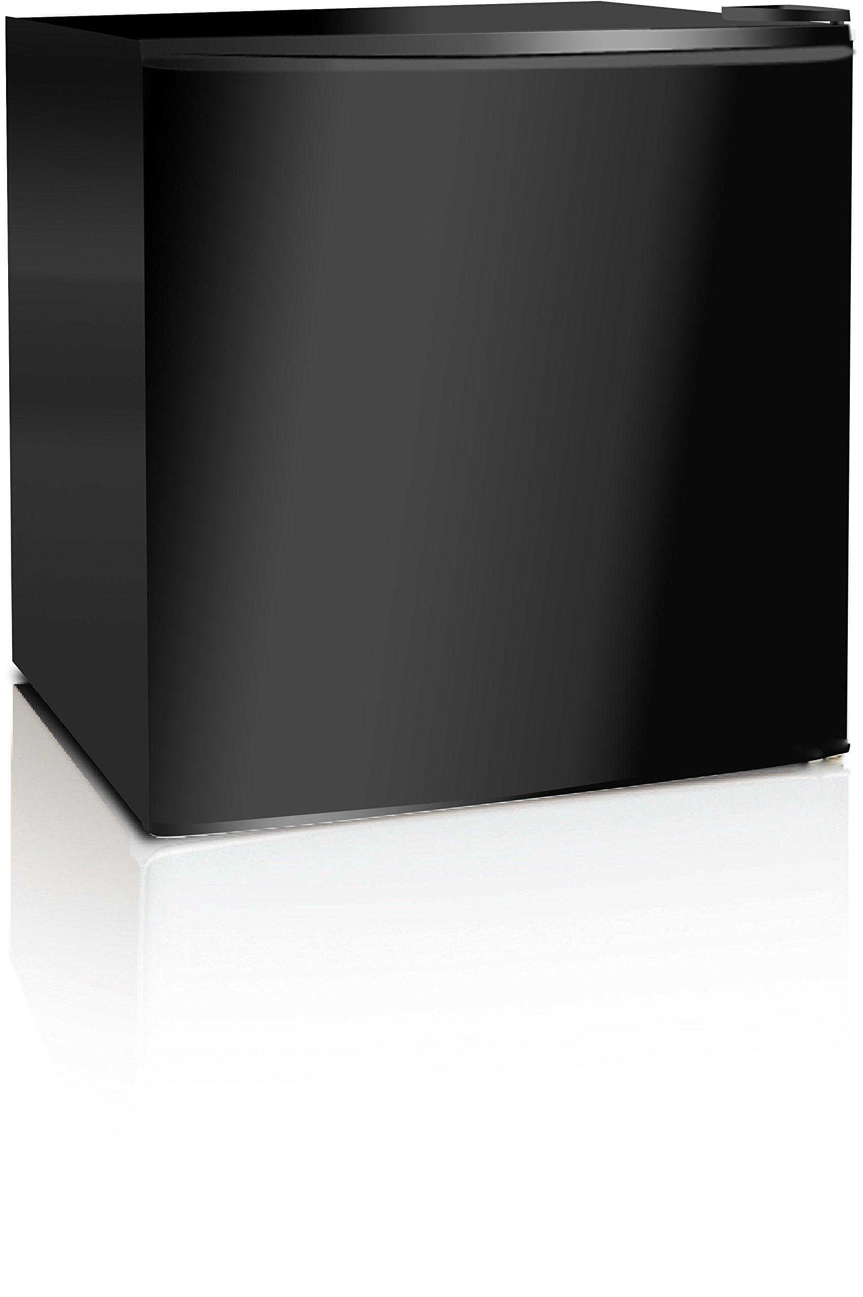 Midea WHS-65LB1 Compact Single Reversible Door Refrigerator, 1.6 Cubic Feet(0.045 Cubic Meter), Black by MIDEA