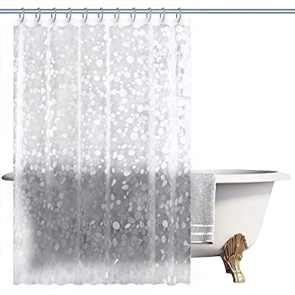 NTT Mold Mildew Resistant PEVA Shower Curtain Liner 72X72 Inches Water Repellent Antibacterial Home