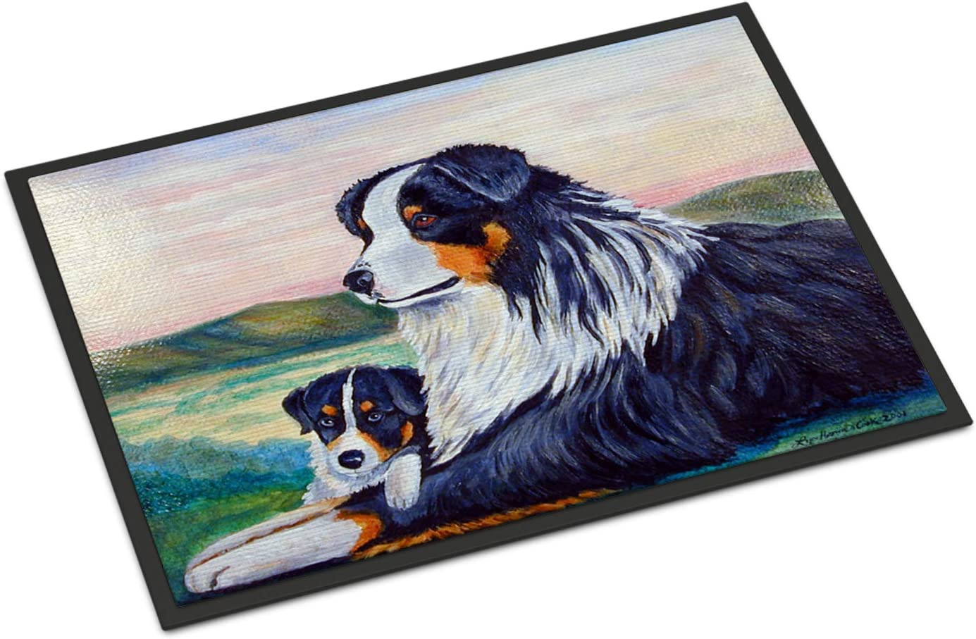 Caroline s Treasures 7511MAT Australian Shepherd Indoor Outdoor Mat 18×27 Doormat, 18H X 27W, Multicolor