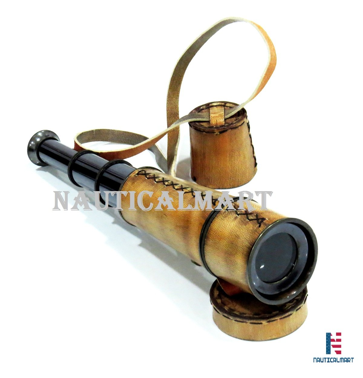 NAUTICALMART Antique Maritime Spyglass Telescope with Carry Belt 16''
