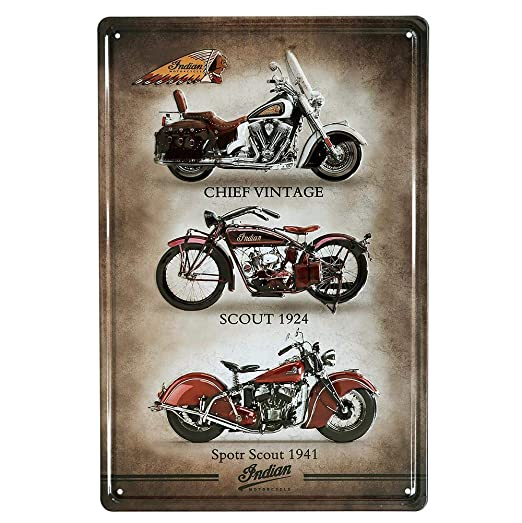 Taco Thursday Indian Motorcycle Pintura de Hierro Cartel de ...