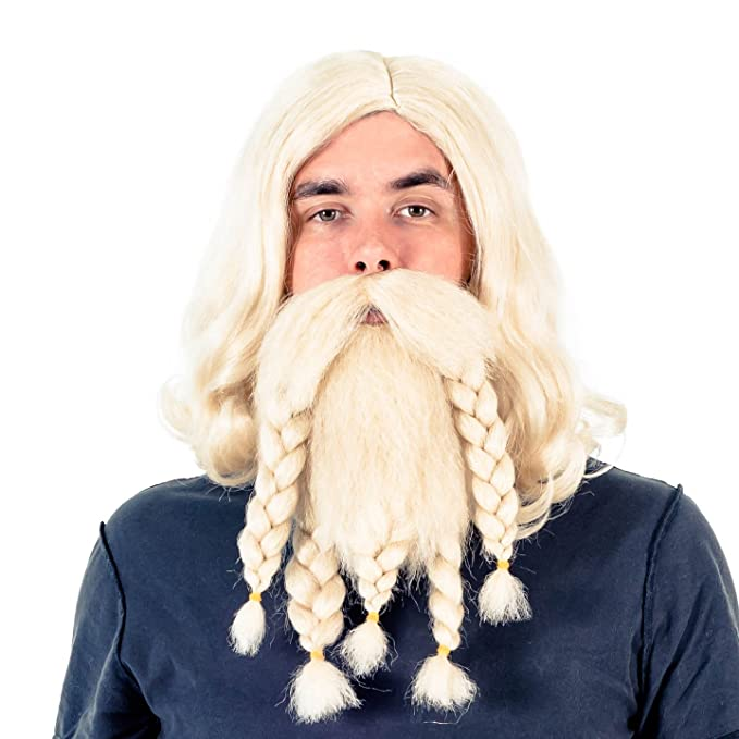 Blonde facial hair costume