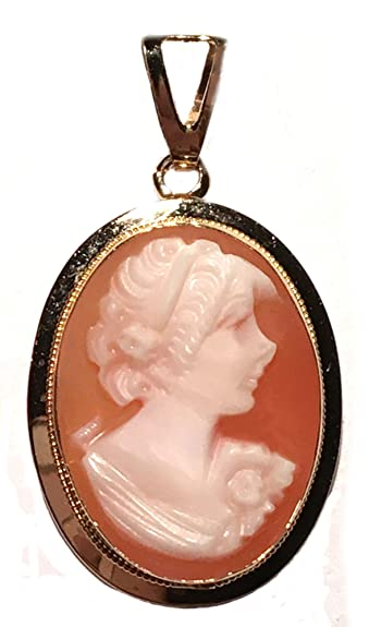 Amazon cameo pendant master carved carnelian conch shell 14k cameo pendant master carved carnelian conch shell 14k gold italian aloadofball Image collections