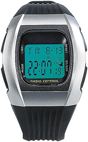 PEARL Funkarmbanduhr: Digitale Unisex-Sport-Funkuhr mit LCD-Display