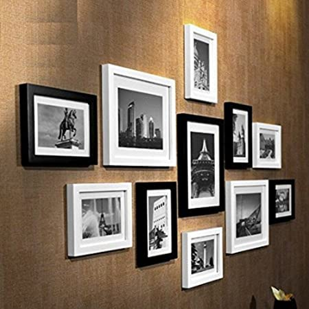 Macallen 15 Piece Multi Picture Photo Frame Wall Display Set (White ...