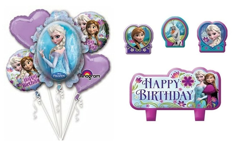 Amazon.com: Frozen Cumpleaños Elsa y Ana Globo Ramo Combo ...
