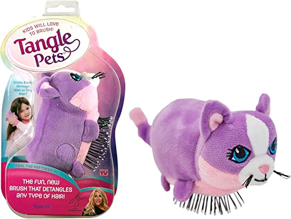 Tangle Pets CUPCAKE THE CAT- The Detangling Brush in a Plush