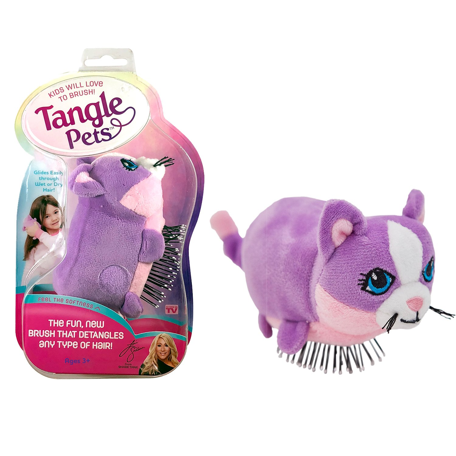 Amazon Com Tangle Pets Cupcake The Cat The Detangling Brush In A Plush Great For Any Hair Type Removable Plush As Seen On Shark Tank Beauty