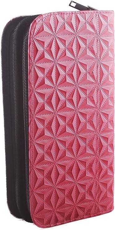 Bolsa para Herramientas de Peluquería, Bolsa de Tijeras para Peluqueros y Barberos, Bolsa de Polipiel, Cuero Sintético – Color Rosa: Amazon.es: Belleza
