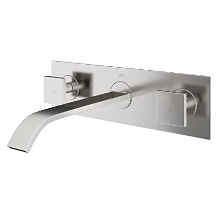 VIGO Titus Wall Mount Bathroom Faucet, Brushed Nickel - Bathroom ...