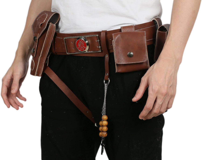 Hellboy Cosplay Belt Gun Holster Costume Prop Halloween Leather Party Men Xcoser