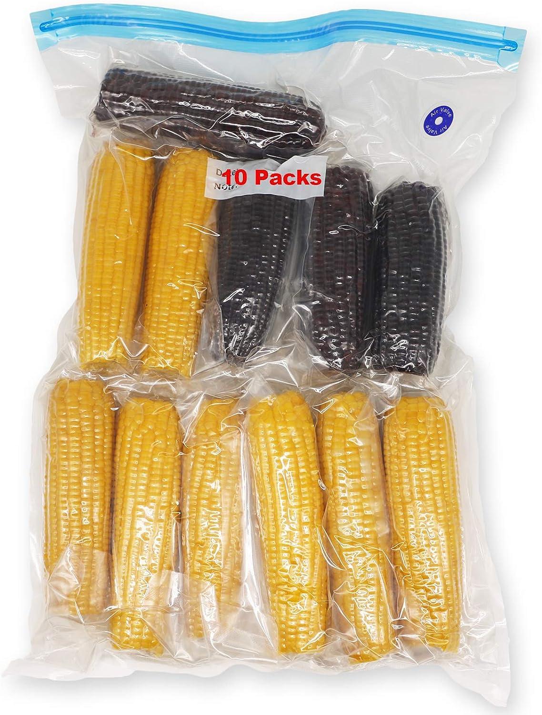 Vacuum Zipper Bags Reusable Enlarge Size Sous Vide Bags Vacuum Food Storage Bags for Anova and Joule Cookers (10 Packs)