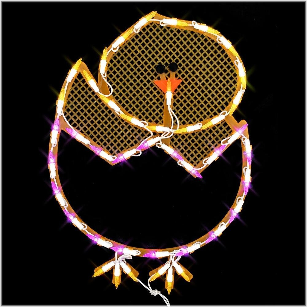 LED Lighted Hatching Baby Chick in Egg Easter Window Silhouette Decoration, 17'' by sd (Image #1)
