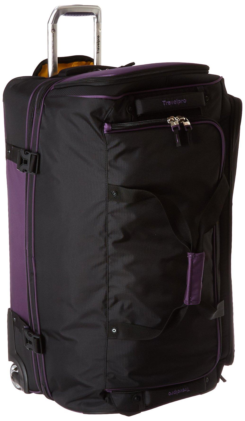 Travelpro Tpro Bold 2.0 30 Inch Drop Bottom Rolling Duffel, Black/Purple, One Size
