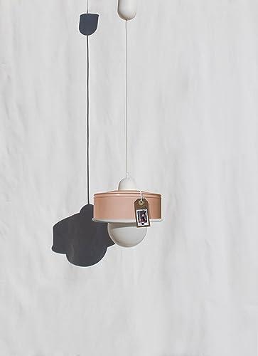 ♥ Lámpara de techo hecha a mano, en color melocotón pastel ...