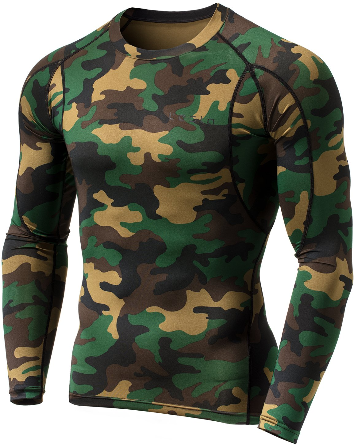 Tesla Men's Long Sleeve T-Shirt Baselayer Cool Dry Compression Top MUD11/MUD01 Tesla Gears