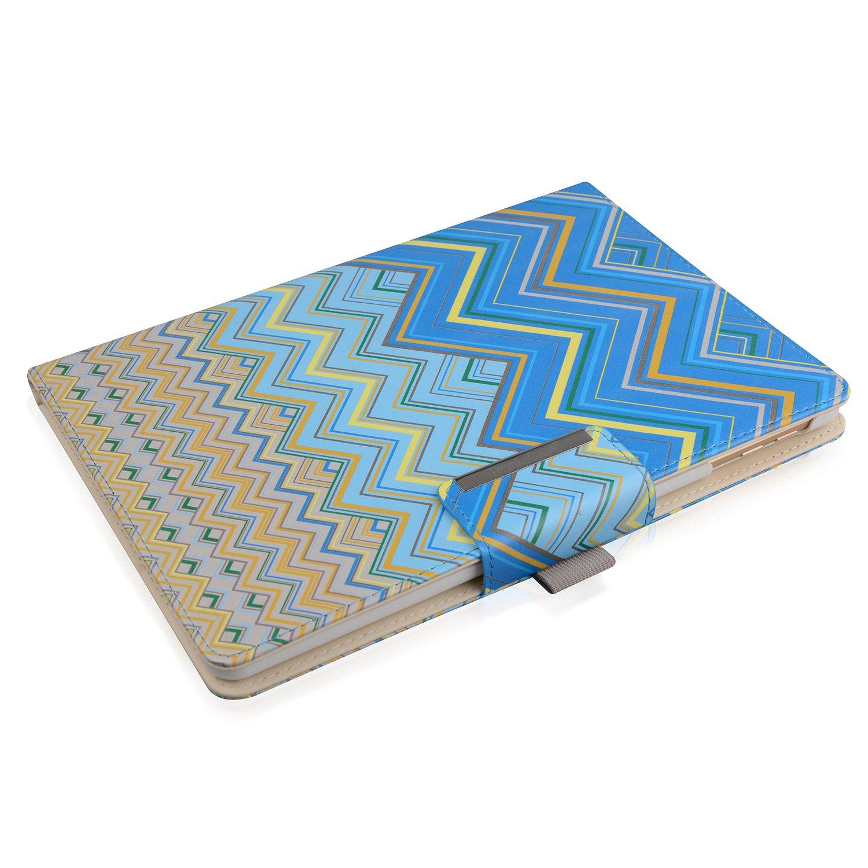 Thankscase回転するケースカバー iPad Pro 9.7用ケース 財布ポケット ハンドストラップ オートスリープ/解除 iPad Pro 9.7 Rotating Case LA8021IPP97-WA B072MK9VC5 iPad Pro 9.7 Rotating Case|Waves 1 Waves 1 iPad Pro 9.7 Rotating Case
