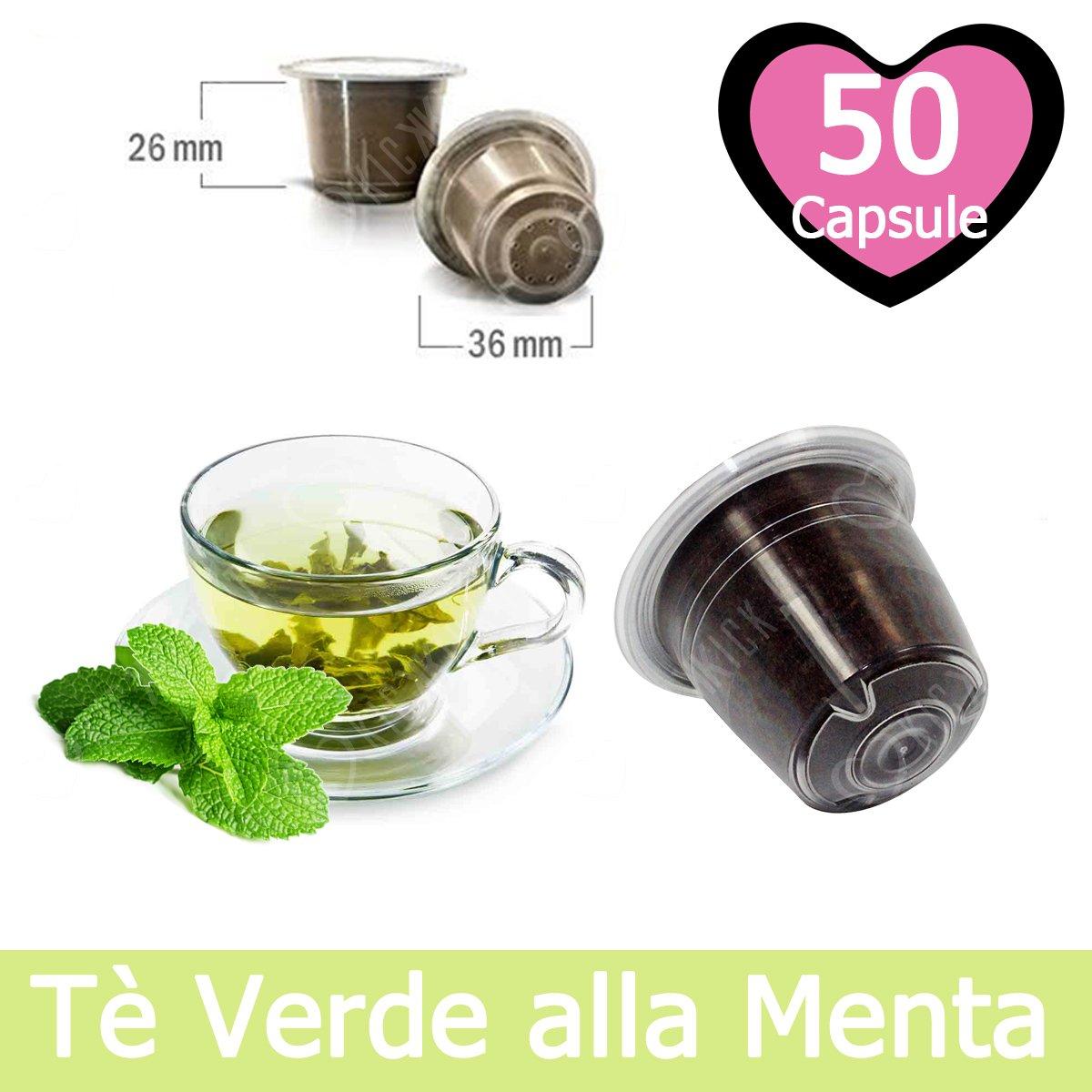 50 Capsulas Té Verde Menta Compatibles Nespresso - Café Kickkick ...