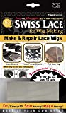 Qfitt Make & Repair Lace Wigs Swiss Lace For Wig Making #5012 - Brown