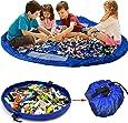 Toy Storage Bag, KING DO WAY Large Tidy Bag Kids Rug Portable Kids Toys Organizer Storage Drawstring Bag Play Mat 150cm