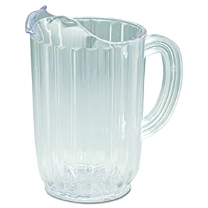 Rubbermaid Commercial 3336 32 oz Capacity, Clear Color, Polycarbonate Bouncer Pitcher