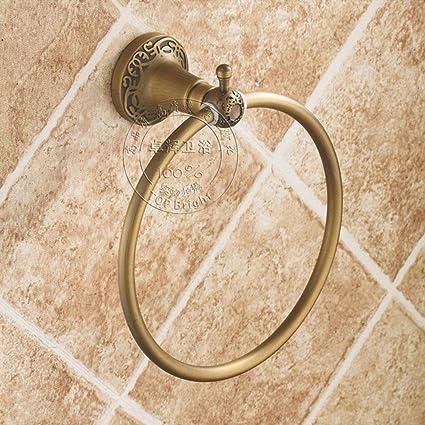 Toalla Anillos y anillas de toallas para baño & níquel cepillado toallero de anilla y bronce ...