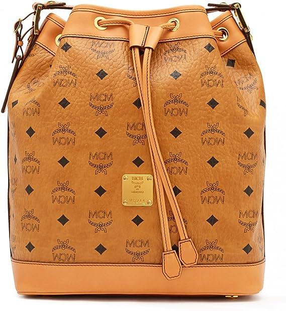 MCM Damen Handtasche Drawstring Heritage Small Cognac