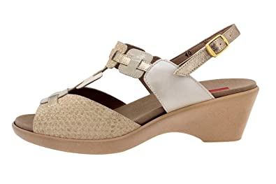 En Cuir Sandale Semelle Piesanto Chaussure 4853 Confort Femme N0OP8nZXwk