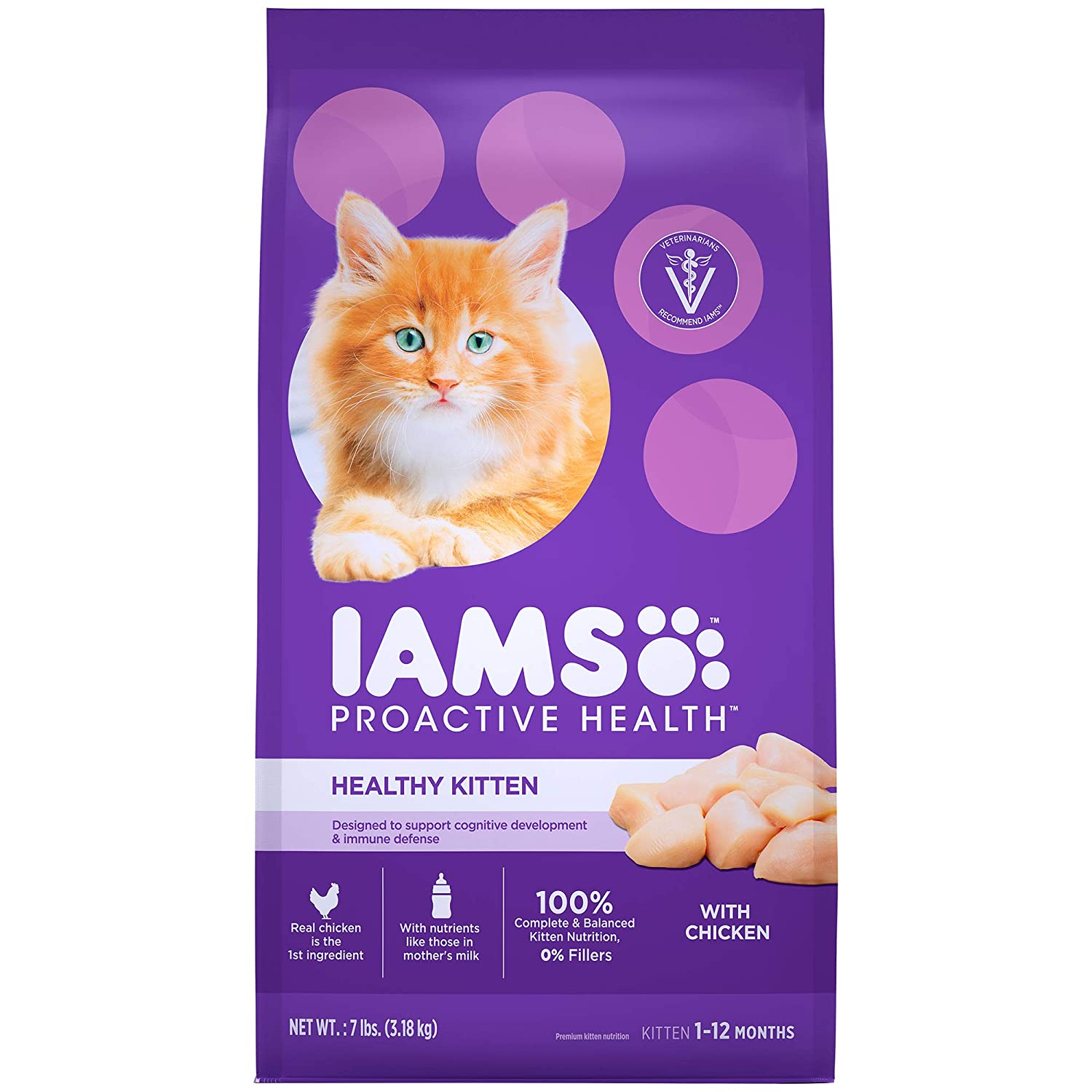 Iams Proactive Health Kitten Dry Cat Food 7 Pounds Amazon In Home Kitchen