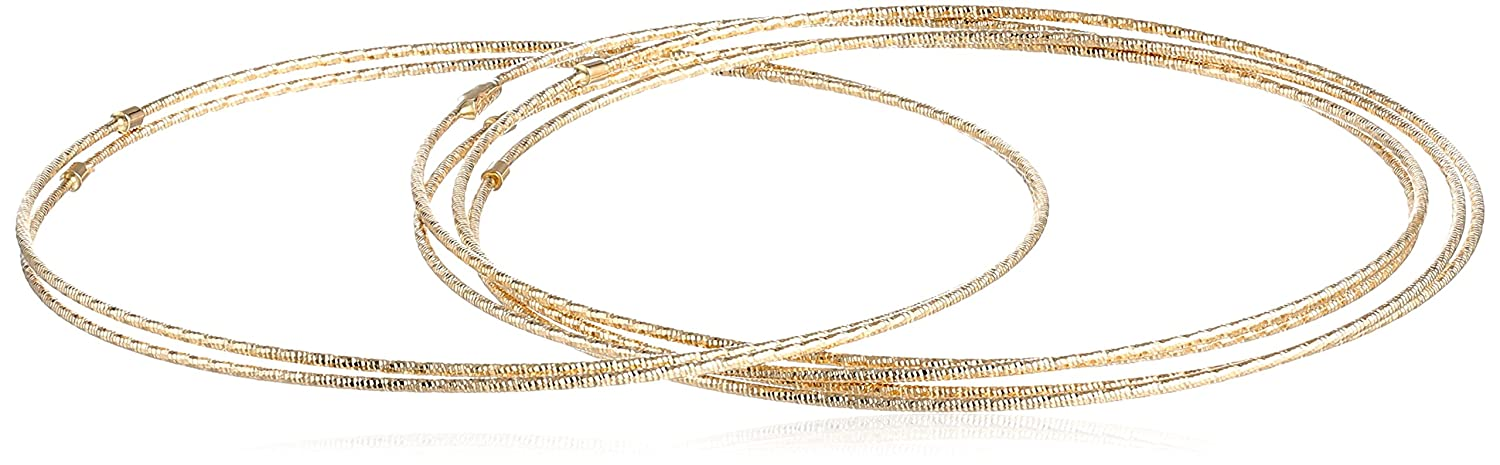 baba7d58b5cca 14k Gold Diamond-Cut 7-Day Bangle Bracelet 6-Piece Set