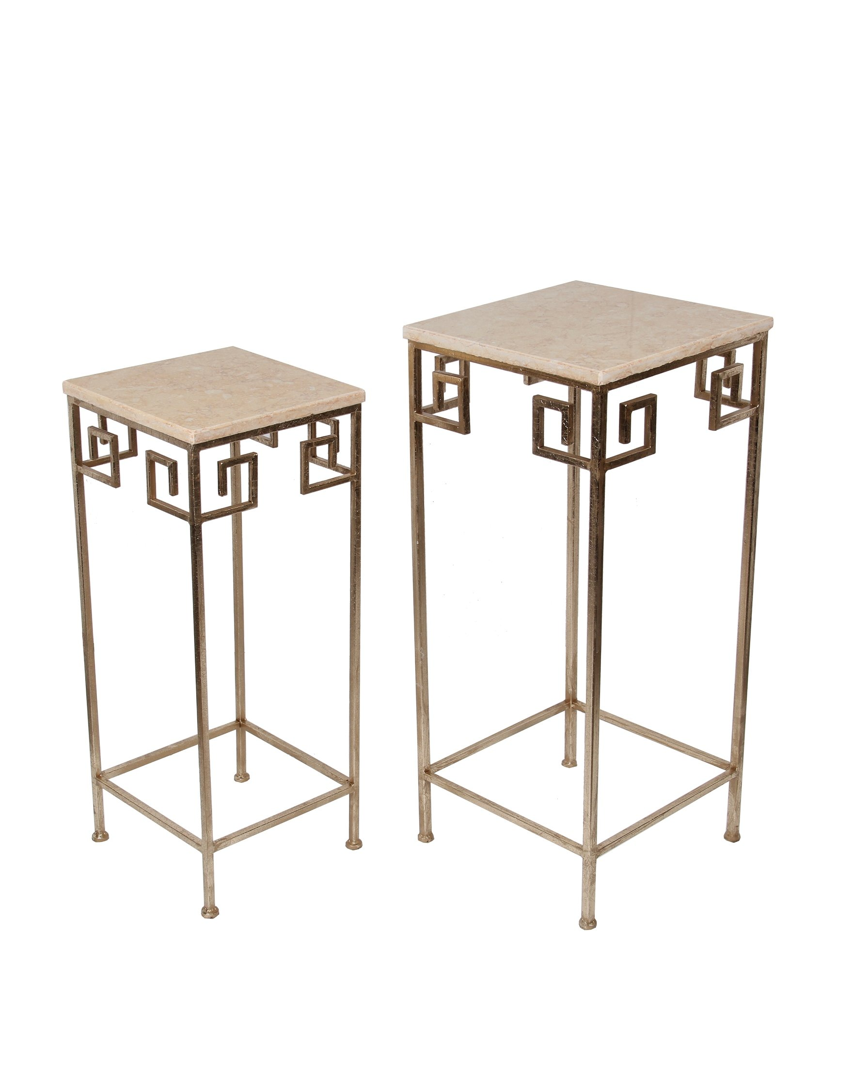 Privilege 18832 2 Piece Marble Accent Table