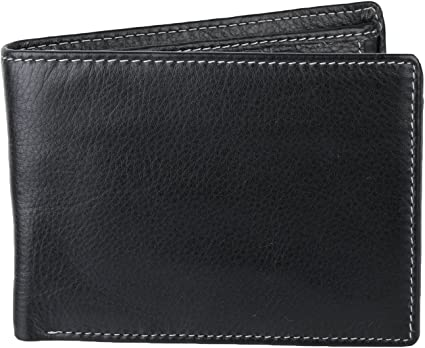 Black Colour RFID  Genuine Leather Wallet Style No 11004