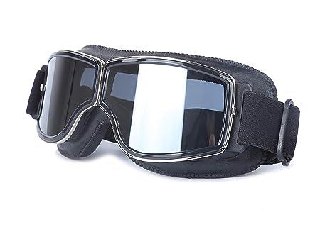 Blisfille Gafas Protectoras Deporte Niño Gafas Moto Antiguas,Marrón: Amazon.es: Deportes y aire libre