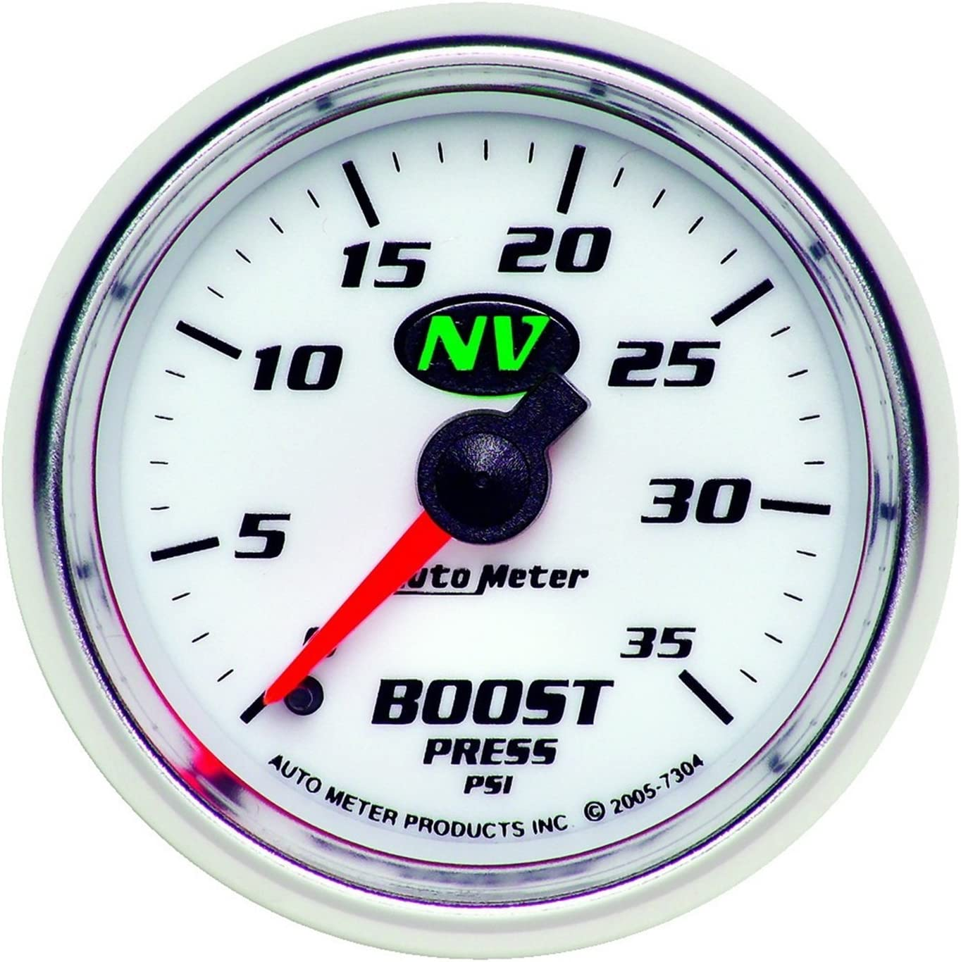 """Auto Meter 3302 2-1//16/"""" Sport-Comp Mechanical Boost Gauge 0-15 PSI"""