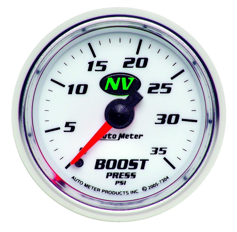 Auto Meter 7304 NV 2-1/16' 0-35 PSI Mechanical Boost Gauge