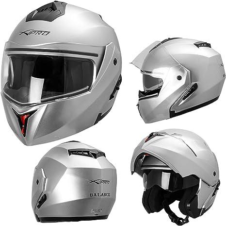 Casco Integrale Moto ECE 22-05 Visiera Parasole Modulare Fluo M